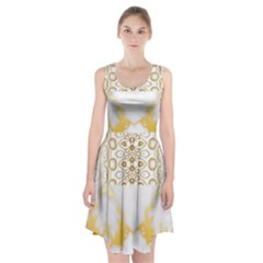 Ivory Marble  In Gold By Flipstylez Designs Racerback Midi Dress