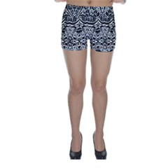 Vintage Black Swirls By Flipstylez Designs Skinny Shorts