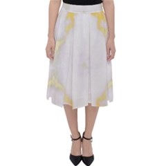 White Marble Pattern By Flipstylez Designs Classic Midi Skirt