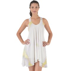 White Marble Pattern By Flipstylez Designs Show Some Back Chiffon Dress