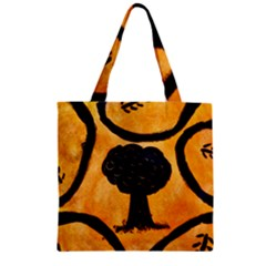 Ceramic Tree Smudge Zipper Grocery Tote Bag