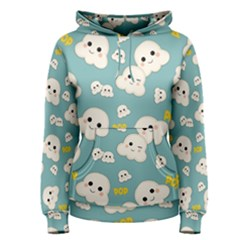 Cute Kawaii Popcorn Pattern Women s Pullover Hoodie