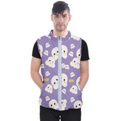 Cute Kawaii Popcorn Pattern Men s Puffer Vest