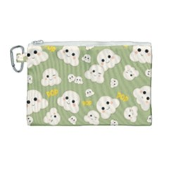 Cute Kawaii Popcorn Pattern Canvas Cosmetic Bag (large) by Valentinaart