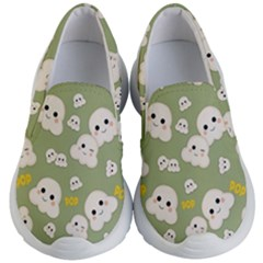 Cute Kawaii Popcorn Pattern Kid s Lightweight Slip Ons by Valentinaart