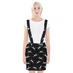 Cute Black Cat Pattern Braces Suspender Skirt