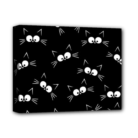 Cute Black Cat Pattern Deluxe Canvas 14  X 11  (stretched)