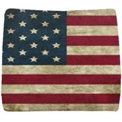 Vintage American Flag Seat Cushion