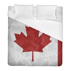 Canada Grunge Flag Duvet Cover (full/ Double Size) by Valentinaart