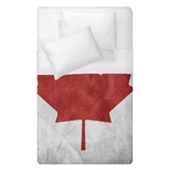 Canada Grunge Flag Duvet Cover (single Size) by Valentinaart