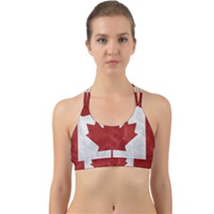 Canada Grunge Flag Back Web Sports Bra by Valentinaart