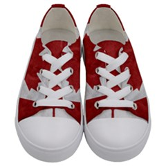 Canada Grunge Flag Kids  Low Top Canvas Sneakers