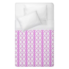 Circles Lines Light Pink White Pattern Duvet Cover (single Size)