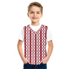 Circles Lines Red White Pattern Kids  Sportswear