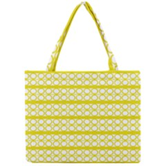 Circles Lines Yellow Modern Pattern Mini Tote Bag