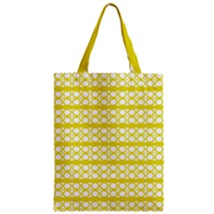 Circles Lines Yellow Modern Pattern Zipper Classic Tote Bag