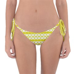 Circles Lines Yellow Modern Pattern Reversible Bikini Bottom