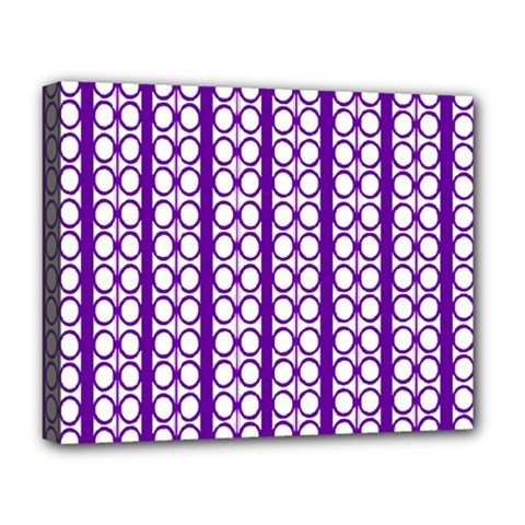 Circles Lines Purple White Modern Design Deluxe Canvas 20  X 16  (stretched) by BrightVibesDesign