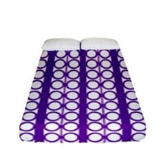 Circles Lines Purple White Modern Design Fitted Sheet (full/ Double Size) by BrightVibesDesign