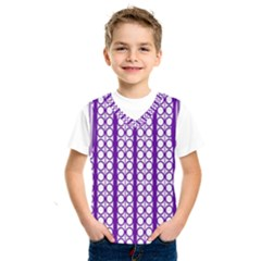 Circles Lines Purple White Modern Design Kids  Sportswear
