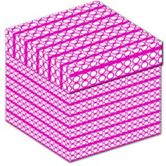 Circles Lines Bright Pink Modern Pattern Storage Stool 12   by BrightVibesDesign