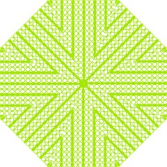Circle Stripes Lime Green Modern Pattern Design Hook Handle Umbrellas (medium)