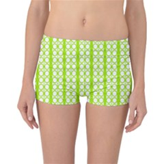 Circle Stripes Lime Green Modern Pattern Design Reversible Boyleg Bikini Bottoms