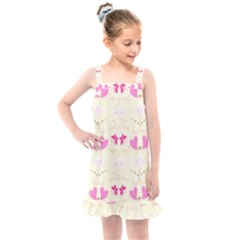 Tiny Heart And Flowers By Flipstylez Designs Kids  Overall Dress by flipstylezdes