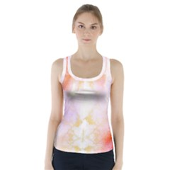 Beautiful Pastel Marble Gold Design By Flipstylez Designs Racer Back Sports Top