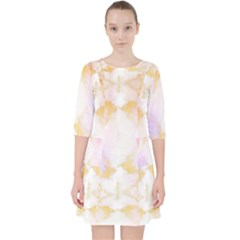 Beautiful Pastel Marble Gold Design By Flipstylez Designs Pocket Dress