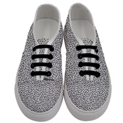 B/w Abstract Pattern 1 Men s Classic Low Top Sneakers