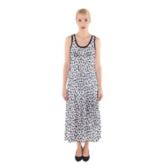 B/w Abstract Pattern 1 Sleeveless Maxi Dress