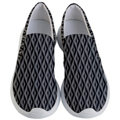 B/w Abstract Pattern 2 Women s Lightweight Slip Ons