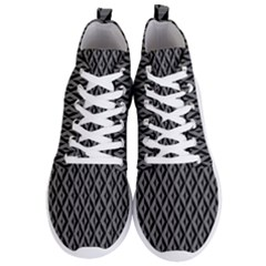 B/w Abstract Pattern 2 Men s Lightweight High Top Sneakers