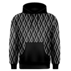 B/w Abstract Pattern 2 Men s Pullover Hoodie