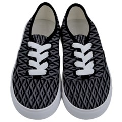 B/w Abstract Pattern 2 Kids  Classic Low Top Sneakers