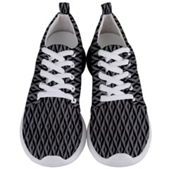 B/w Abstract Pattern 2 Men s Lightweight Sports Shoes