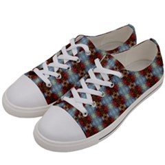 Geometry Tri Men s Low Top Canvas Sneakers by moss