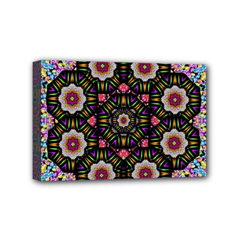 Decorative Ornate Candy With Soft Candle Light For Peace Mini Canvas 6  X 4  (stretched) by pepitasart