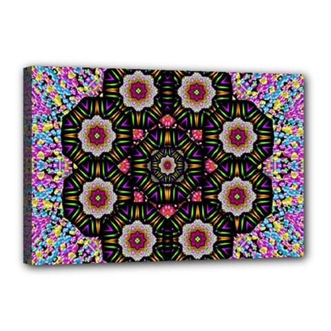 Decorative Ornate Candy With Soft Candle Light For Peace Canvas 18  X 12  (stretched) by pepitasart