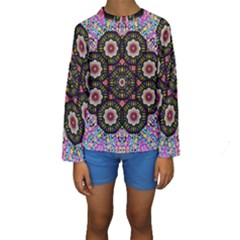 Decorative Ornate Candy With Soft Candle Light For Peace Kids  Long Sleeve Swimwear