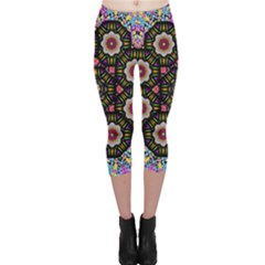 Decorative Ornate Candy With Soft Candle Light For Peace Capri Leggings