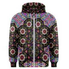 Decorative Ornate Candy With Soft Candle Light For Peace Men s Zipper Hoodie