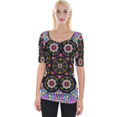 Decorative Ornate Candy With Soft Candle Light For Peace Wide Neckline Tee