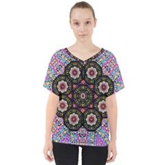 Decorative Ornate Candy With Soft Candle Light For Peace V Neck Dolman Drape Top