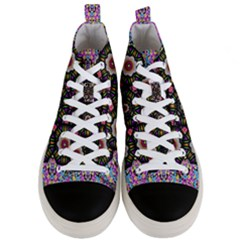 Decorative Ornate Candy With Soft Candle Light For Peace Men s Mid Top Canvas Sneakers