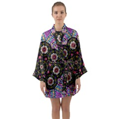 Decorative Ornate Candy With Soft Candle Light For Peace Long Sleeve Kimono Robe