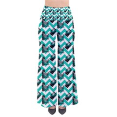 Vintage Camera Chevron Aqua So Vintage Palazzo Pants