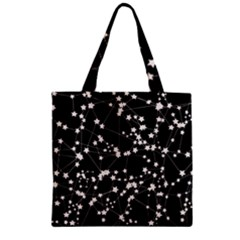 Constellations Zipper Grocery Tote Bag by snowwhitegirl
