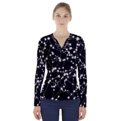 Constellations V Neck Long Sleeve Top